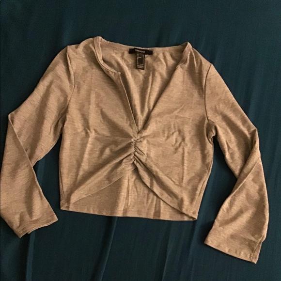 Heather Grey Knit Crop Top